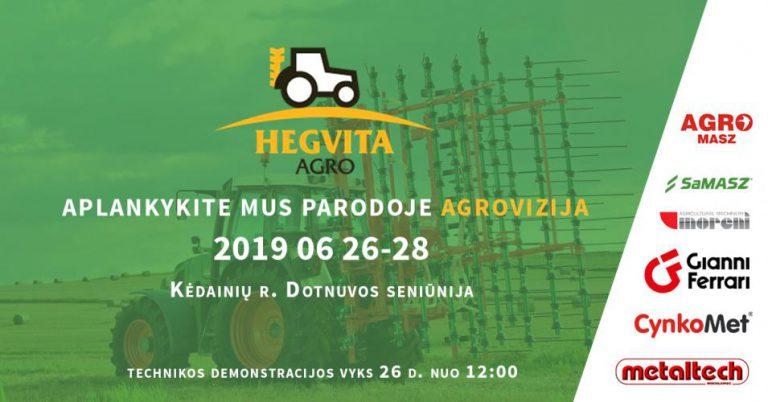 """Hegvita Agro parodoje """"Agrovizija 2019"""""""
